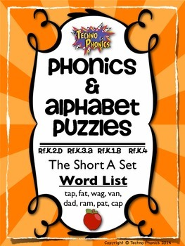Alphabet & Phonics Puzzles - Short A Set