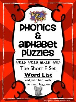 Alphabet & Phonics Puzzles - Short E Set