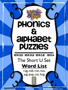 Alphabet & Phonics Puzzles - Short U Set