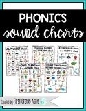 Alphabet & Phonics Sound Charts (First Grade Phonics)