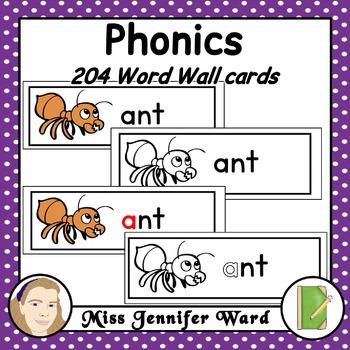 Alphabet Phonics Word Wall Set