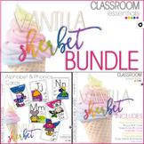 Classroom Decor, Alphabet Cards & Phonics Cards - BUNDLE - Vanilla Sherbet