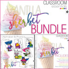 Alphabet, Phonics and Classroom Decor - BUNDLE - Vanilla Sherbet