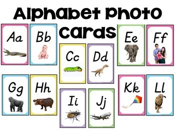 Alphabet Photo Cards - D'Nealian Style