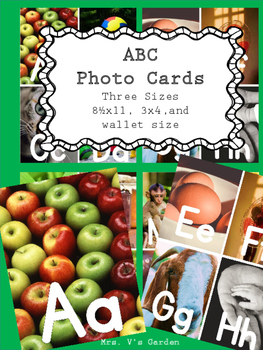 Alphabet Poster Photo Cards High Resolution Word Wall
