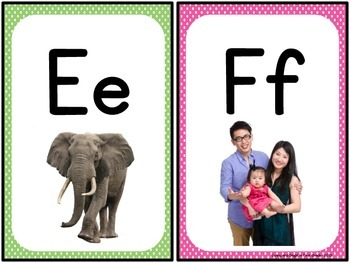 Alphabet Photo Cards - Manuscript Style