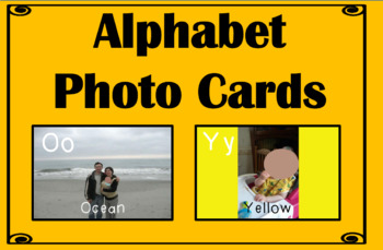 Alphabet Photo Cards Template