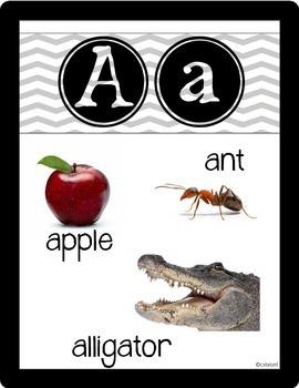 Alphabet Photo Posters