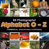 Photos Photographs ALPHABET O - Z, clip art