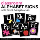 Alphabet Picture Cards {Black Series}
