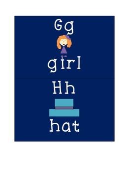 Blue Alphabet Picture Cards