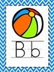 Alphabet Picture Cards - Blue Chevron