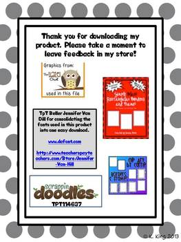 Alphabet Picture Cards - Bright Polka Dot Backgrounds