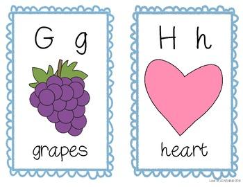 Alphabet Picture Cards D'Nealian