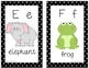 Alphabet Picture Cards D'Nealian black