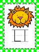 Alphabet Picture Cards - Lime Green Polka Dot