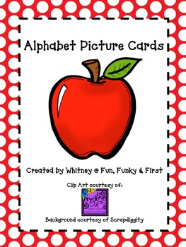 Alphabet Picture Cards - Red Polka Dot