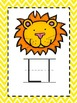 Alphabet Picture Cards - Yellow Chevron