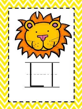 Alphabet Picture Cards - Yellow Chevron