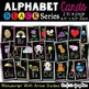 """Alphabet Picture Cards with Arrow Guides Line Word Wall Cards Black 5.5""""x8.5"""""""