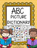 Alphabet Picture Dictionary for Writing Center