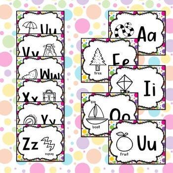 Alphabet Picture Dry Erase Word Wall
