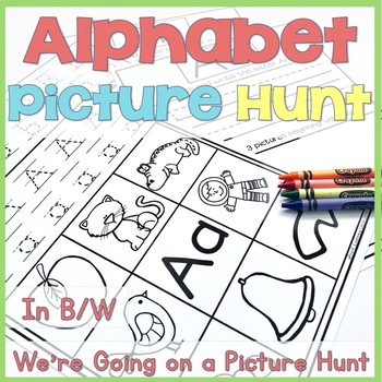 Alphabet Picture Hunt Book(Beginning Letter Sound Coloring Pages)