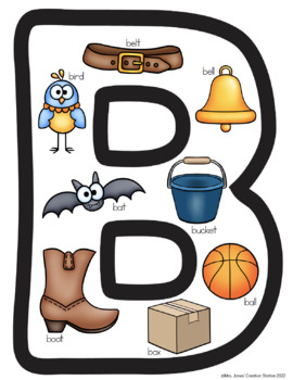 Alphabet Wall Cards Picture Letter Posters {Now I Know My ABC's Series}