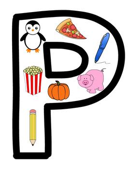 Alphabet Picture Letters