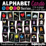 Alphabet Picture Line Word Wall Cards Traditional Manuscri