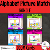Alphabet Picture Match Boom Cards BUNDLE Distance Learning