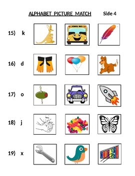 Alphabet Picture Match (ONE Match Only)