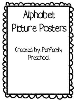 Alphabet Picture Posters