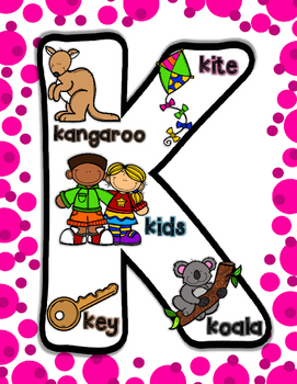 Alphabet Picture Posters (bright posters to help with letter recognition)