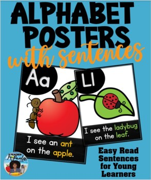 Alphabet Picture Posters with Sentences