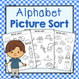 Alphabet Picture Sort: Preschool Letters of the Week