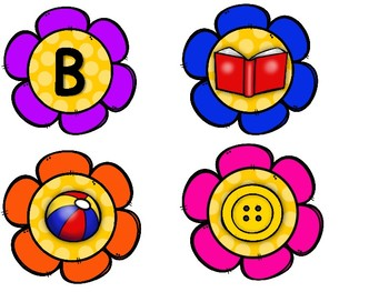 Alphabet Picture Sorting- Flowers