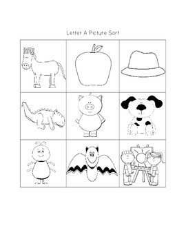 Alphabet Picture Sorts
