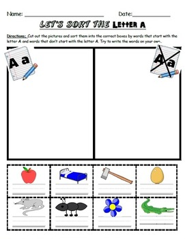 Alphabet Picture Sorts!