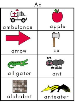 Alphabet Picture Word Banks