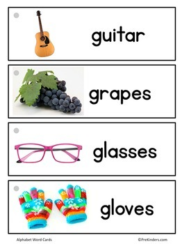 Alphabet Picture Word Cards (Word Walls, Pocket Charts)
