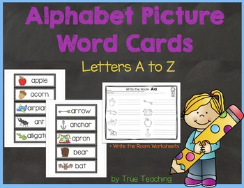 Alphabet Picture Word Cards A-Z