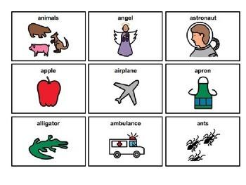 Alphabet Picture Words