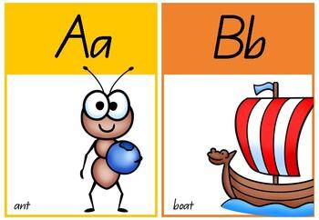 Alphabet Pictures (Bright Rainbow)