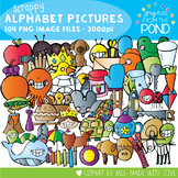 Alphabet Clipart - Scrappy Graphics From the Pond