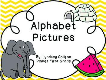 Alphabet Pictures: Colorful Clipart