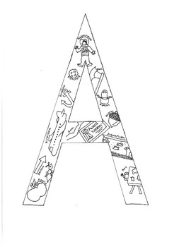 Alphabet Pictures in Letters