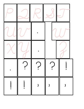 Alphabet - Pink & Blue - Cursive