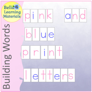 Alphabet - Pink & Blue - Print