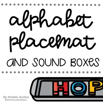 Alphabet Placemat and Sound Boxes for Cookie Sheets